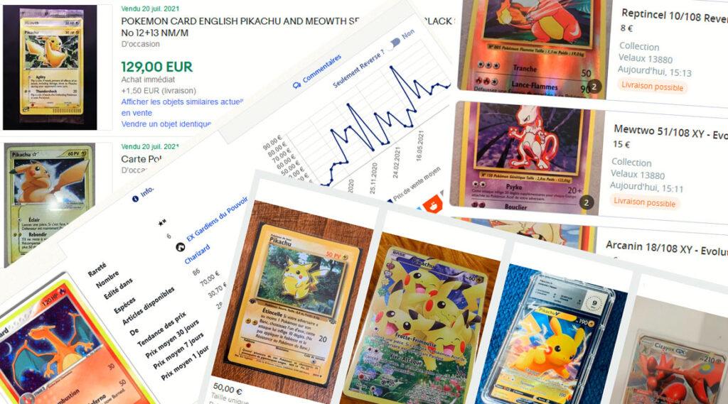 Acheter des cartes Pokémon à l'unité