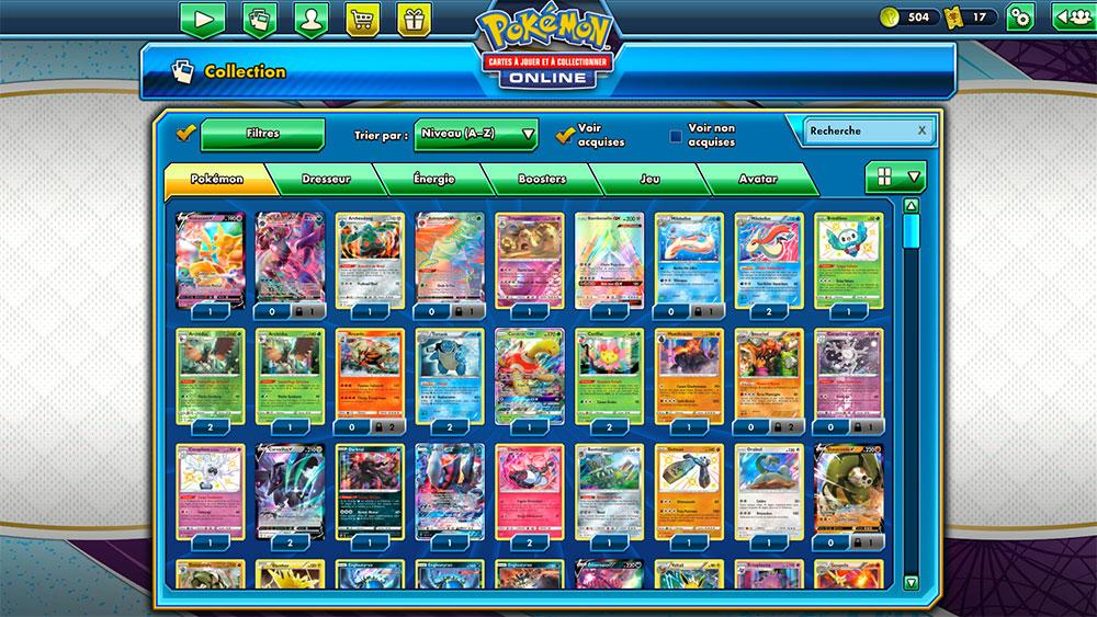 Collection Pokémon en ligne